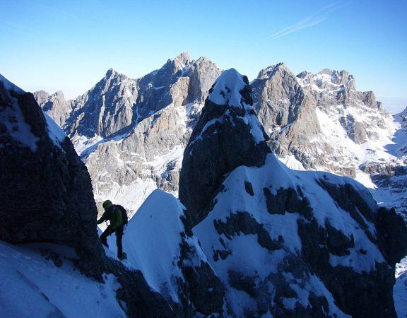 Winter alpinism and ice climbing