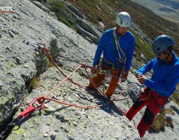 Curso de escalada clásica y vías de varios largos