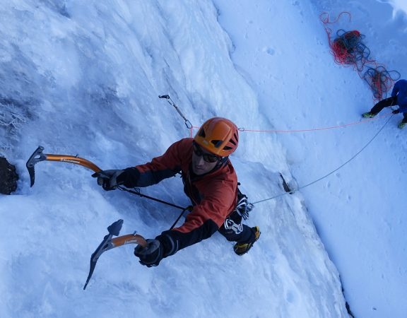 Introductory ice climbing course