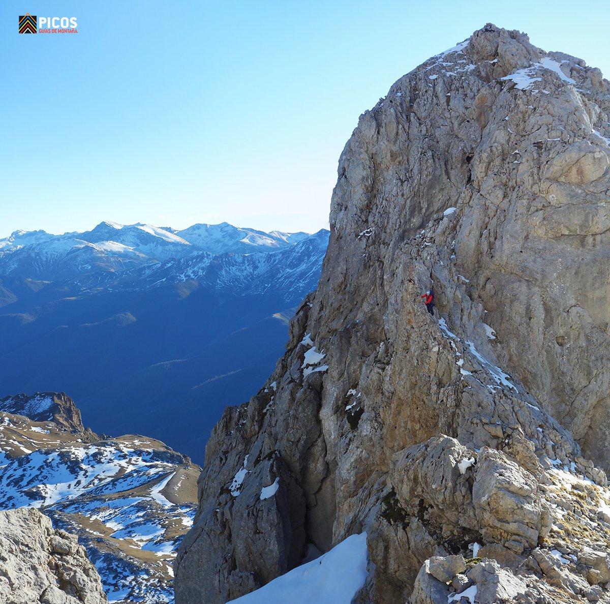 Integral de Tajahierro. Bajando de la Punta Covadonga
